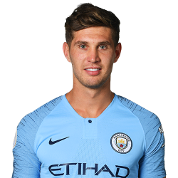 Picture of the 6 ft 2 in (1.88 m) tall English centre back of Manchester City