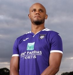 Picture of the 1.90 m (6 ft 3 in) tall Belgian defender of Anderlecht