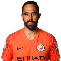 Picture of the 1.84 m (6 ft 0 in) tall Chilean goalkeeper of Manchester City