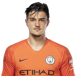 Picture of the 1.98 m (6 ft 6 in) tall Kosovan goalkeeper of Manchester City