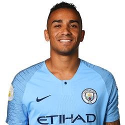 Picture of the 1.84 m (6 ft 0 in) tall Brazilian full back of Manchester City
