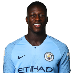 Picture of the 1.83 m (6 ft 0 in) tall French left back of Manchester City