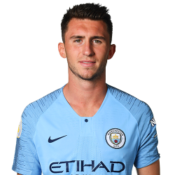 Picture of the 1.91 m (6 ft 3 in tall French centre back of Manchester City