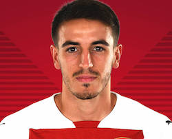 Picture of the 1.80 m (5 ft 11 in) tall Spanish centre back of Arsenal