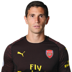 Picture of the 1.93 m (6 ft 4 in) tall Argentinian goalkeeper of Arsenal