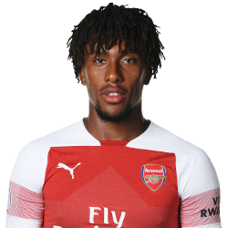 Picture of the 1.85 m (6 ft) tall Nigerian winger of Arsenal