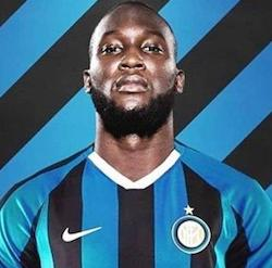 Picture of the 1.91 m (6 ft 3 in) tall Belgian striker of Inter Milan