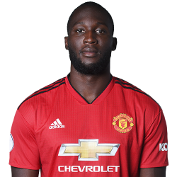 Picture of the 1.91 m (6 ft 3 in) tall Belgian striker of Manchester United
