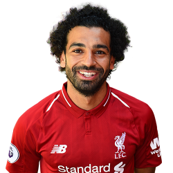 Picture of the 1.75 m (5 ft 9 in) tall Egyptian right winger of Liverpool