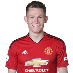 Picture of the 1.93 m (6 ft 4 in) tall Scottish midfielder of Manchester United