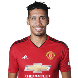 Picture of the 1.93 m (6 ft 4 in) tall English centre back of Manchester United