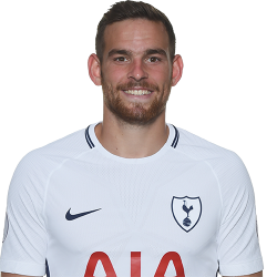 Picture of the 1.83 m (6 ft 0 in) tall Dutch striker of Tottenham Hotspur