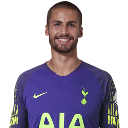 Picture of the 1.88m (6 ft 5/6 in) tall English goalkeeper of Tottenham Hotspur