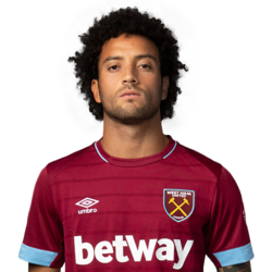 Picture of the 1.75 m (5 ft 9 in) tall Brazilian  left winger of West Ham United