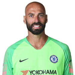 Picture of the 1.87 m (6 ft 2 in) tall Argentinian goalkeeper of Chelsea