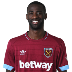 Picture of the 1.85 m (6 ft 1 in) tall Equatoguinean centre midfielder  of West Ham United