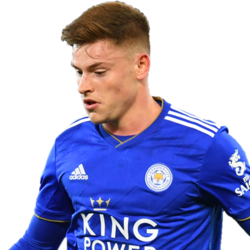 Picture of the 1.74 m (5 ft 9 in) tall English  left midfielder  of Leicester City