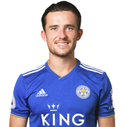 Picture of the 1.78 m (5 ft 10 in) tall English left back of Leicester City