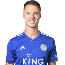 Picture of the 1.88 m (6 ft 2 in) tall Irish centre back of Leicester City