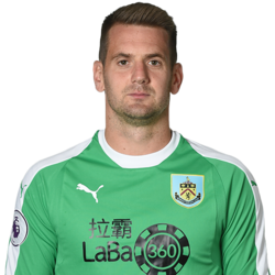 Picture of the 1.88 m (6 ft 2 in) tall English goalkeeper of Aston Villa