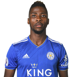 Picture of the 1.85 m (6 ft 1 in) tall Nigerian striker of Leicester City