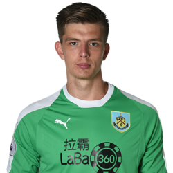 Picture of the 1.91 m (6 ft 3 in) tall English goalkeeper of Burnley