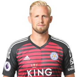 Picture of the 1.89 m (6 ft 2 in) tall Danish goalkeeper of Leicester City