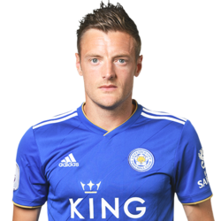 Picture of the 1.79 m (5 ft 10 in) tall English striker of Leicester City