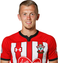 Picture of the 1.73 m (5 ft 8 in) tall English attacking midfielder of Southampton