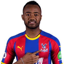 Picture of the 1.82 m (6 ft 0 in) tall French/Ghanian  centre-forward of Crystal Palace