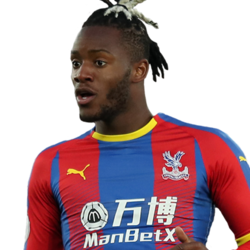 Picture of the 1.85 m (6 ft 1 in) tall Belgian  striker  of Crystal Palace