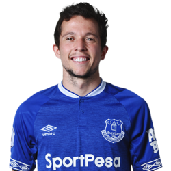 Picture of the 1.64 m (5 ft 5 in) tall Brazilian  left winger of Everton