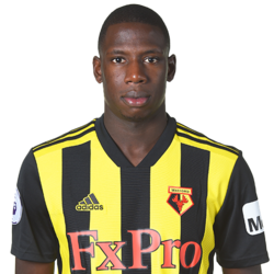 Picture of the 1.82 m (6 ft 0 in) tall French/Malian centre midfielder of Watford