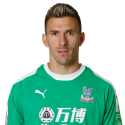 Picture of the 1.90 m (6 ft 3 in) tall Spanish goalkeeper of Crystal Palace