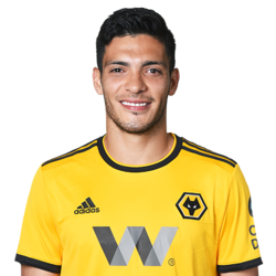 Picture of the 1.90 m (6 ft 3 in) tall Mexican striker of Wolverhampton Wanderers