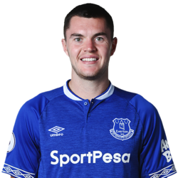 Picture of the 1.91 m (6 ft 3 in) tall English centre back of Everton