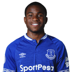 Picture of the 1.74 m (5 ft 9 in) tall English left winger of Everton