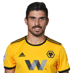 Picture of the 1.83 m (6 ft 0 in) tall Portuguese centre midfielder of Wolverhampton Wanderers
