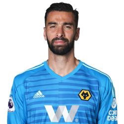 Picture of the 1.90 m (6 ft 3 in) tall Portuguese goalkeeper of Wolverhampton Wanderers