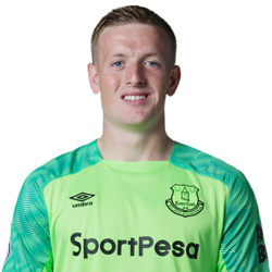 Picture of the 1.85 m (6 ft 1 in) tall English goalkeeper of Everton