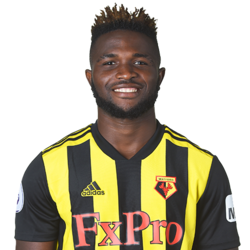 Picture of the 1.82 m (6 ft 0 in) tall Nigerian left winger of Watford
