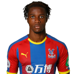 Picture of the 1.8 m (5ft 11 in) tall English/Ivorian centre forward of Crystal Palace