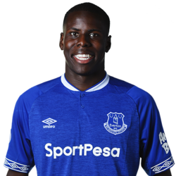 Picture of the 1.90 m (6 ft 3 in) tall French centre back of Everton