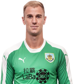Picture of the 1.96 m (6 ft 5 in) tall English goalkeeper of Burnley