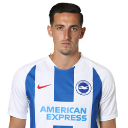 Picture of the 1.92 m (6 ft 4 in) tall English centre back of Brighton & Hove Albion