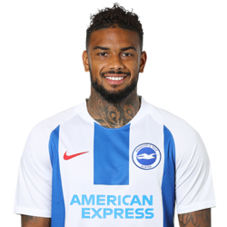 Picture of the 1.85 m (6 ft 1 in) tall Dutch striker of Brighton