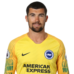 Picture of the 1.84 m (6 ft 0 in) tall Australian goalkeeper of Brighton & Hove Albion