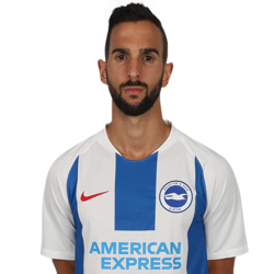 Picture of the 1.75 m (5 ft 9 in) tall Spanish right back of Brighton & Hove Albion