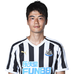 Picture of the 1.86 m (6 ft 1 in)[ tall South Korean centre midfielder of Newcastle United