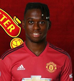 Picture of the 1.83 m (6 ft 0 in) tall English right back of Manchester United